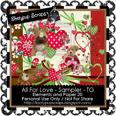 "Scrapbook Freebie ""All for love"" by tootypupscraps"