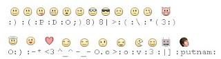 Kode Smiley Untuk Facbook Chat | Smiley Code for Facebook message