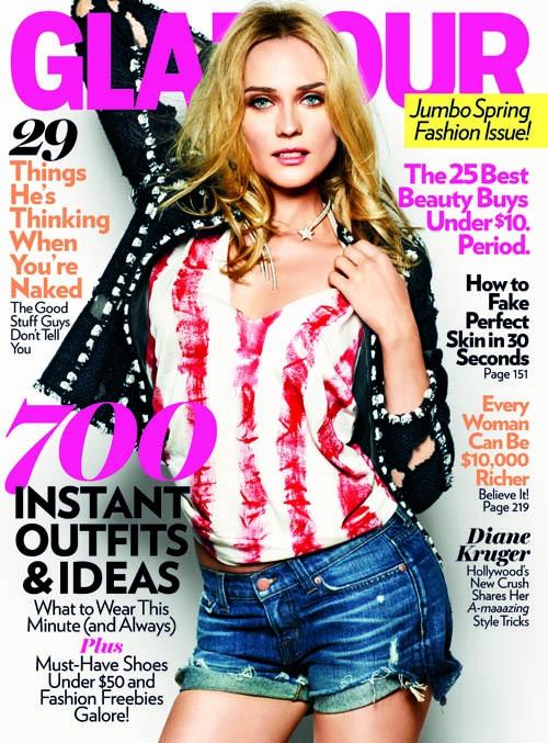 Diane Kruger:Glamour Magazine