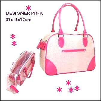 Designer Pink carrier bag