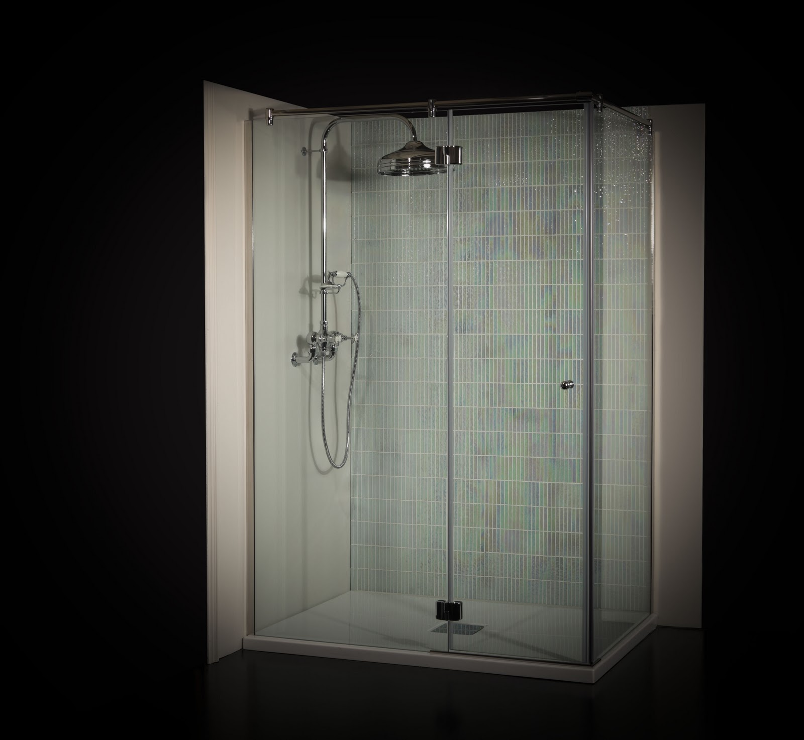 The Latest News From Albion: Designer Frameless Shower Enclosures