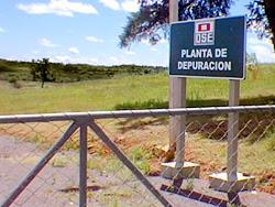 Planta de depuración de OSE en Rivera