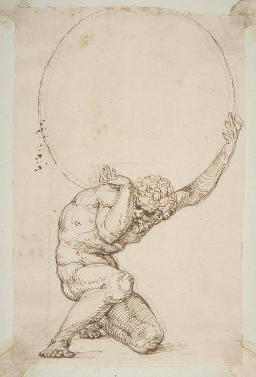 laquoiboniste crouching figure of atlas
