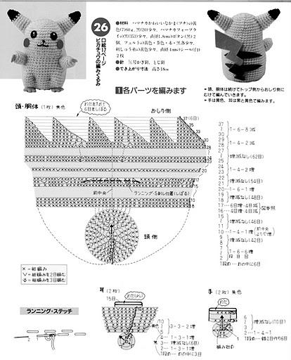 Amigurumi Anime Patrones Gratis : Pikachu amigurumi patron anime games gumis crochet ideas