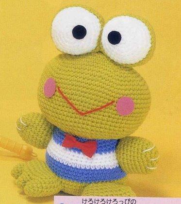 .Un Poquito de Todo: patron amigurumi rana, crochet