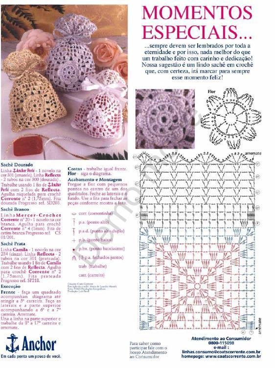 Ganchillo Pattern : Un Poquito de Todo: patron para hacer bolsitas a crochet