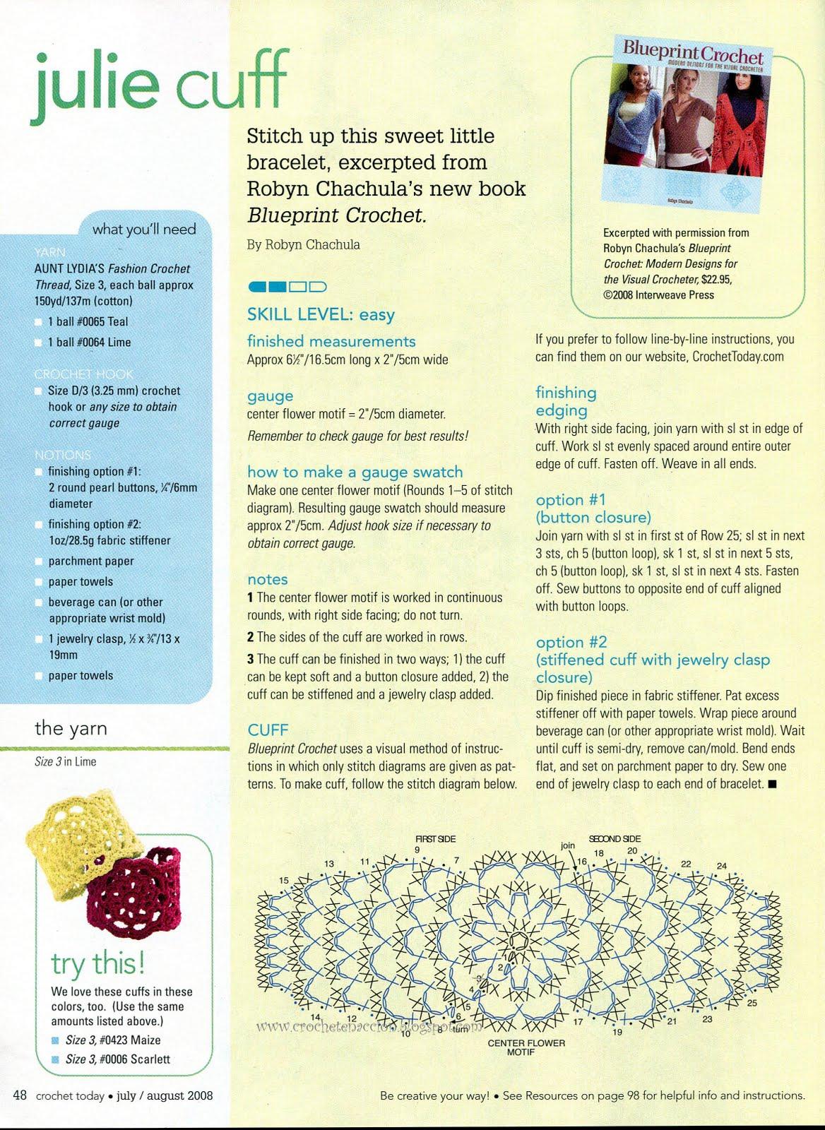 Pulseras a crochet patrones - Imagui