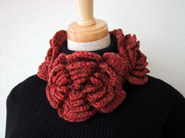 Neck Warmer Crochet Flowers