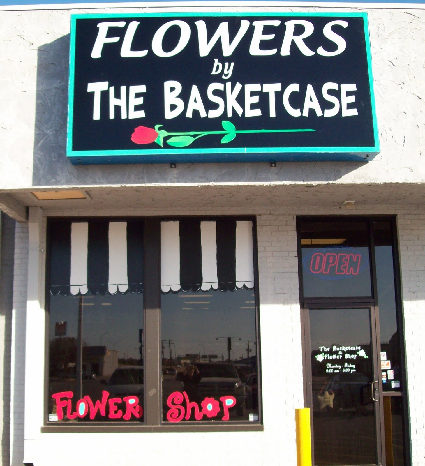 The Basketcase And Flower Shop: NEW SIGN