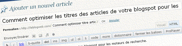 Titre Wordpress