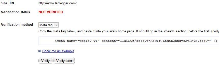 SiteMap Blogger