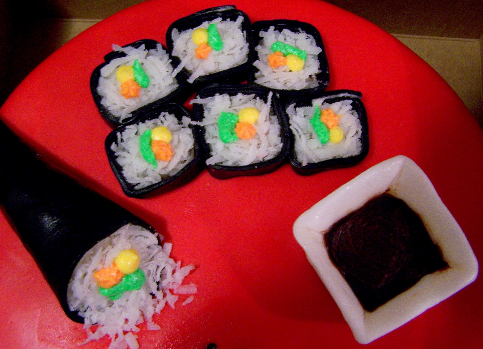 how to make sushi cake