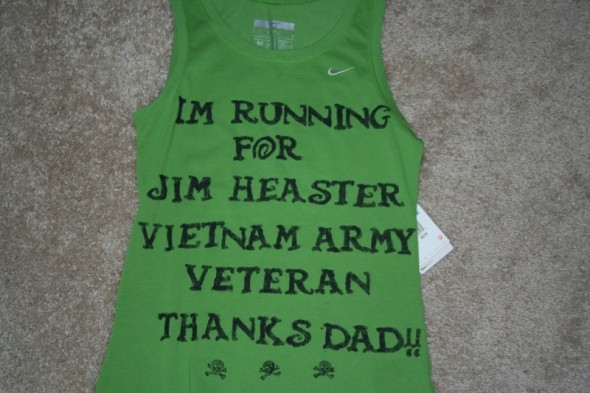 Lisa ran for her dad!  He was a Vietnam Army Soldier