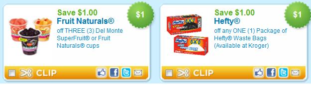 picture about Hefty Printable Coupons called Refreshing Printable Discount coupons Del Monte Fruit Cups, Weighty Trash