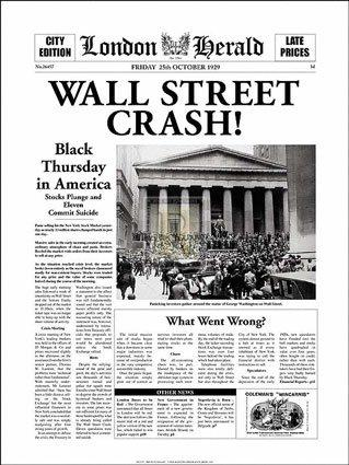 roaring twenties and its influence on the stock market crash of 1929 The stock market crash of 1929 was a four-day collapse of stock prices that began on october 24, 1929 it was the worst decline in us history the dow jones industrial average dropped 25 percent.