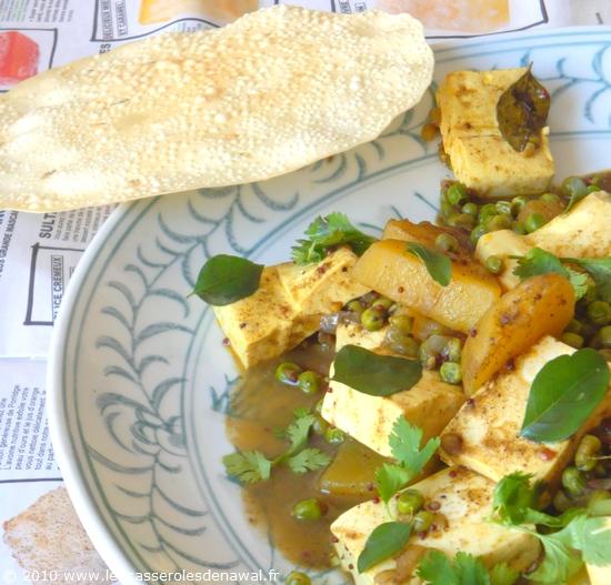 Les casseroles de nawal mon curry indien veggie pommes de - Cuisiner le tofu ferme ...