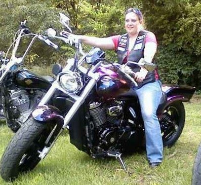 Ol Lady Biker  Riding in the Front
