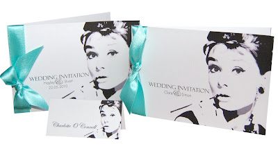 Breakfast At Tiffany's Wedding Stationery Theme :  breakfast at tiffanys monochrome tiffany blue hand made