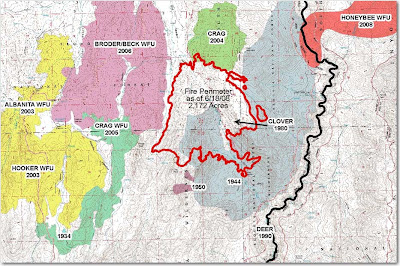 I Came Across A Map Above Of The Clover Fire On The Sequoia National Forest While It Was Still A Wildland Fire Use Wfu Fire On June 18