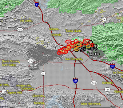 Sylmar Fires Update >> California: update on southern California fires - Wildfire Today