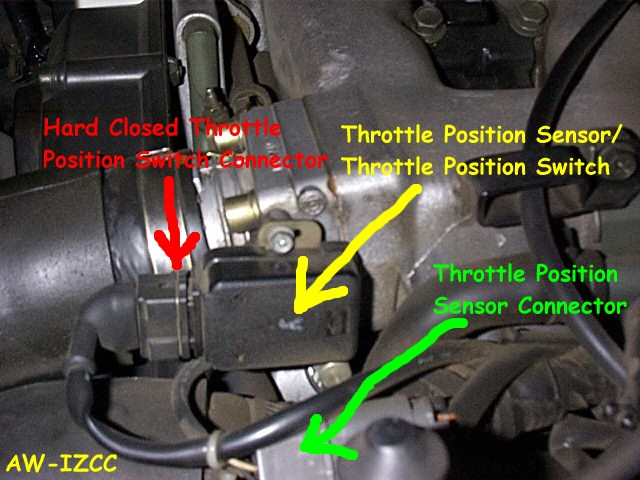 Throttle Position Switch on temp sensor location 2003 eclipse