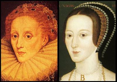 Elizabeth I, and her mother, Anne Boleyn; Amazing similarities!