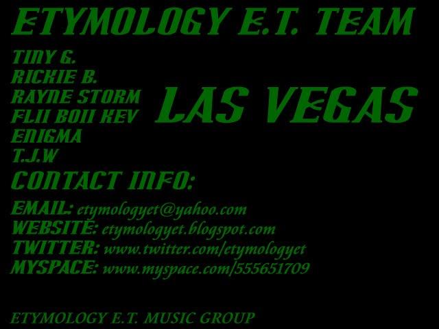 ETYMOLOGY E.T.
