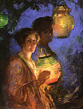 Woman with a Japanese Lantern