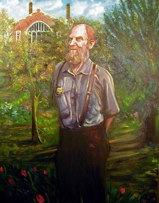 oil portrait of Robert Brundage by artist Lisabelle