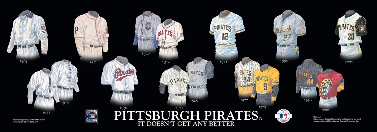 Pittsburgh Pirates Uniform and Team History | Heritage Uniforms ...