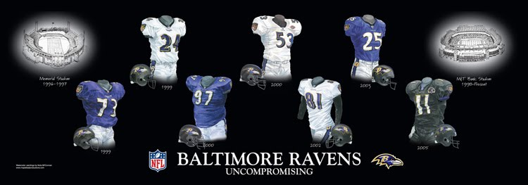 Baltimore Ravens Home Stadiums | Heritage Uniforms and Jerseys