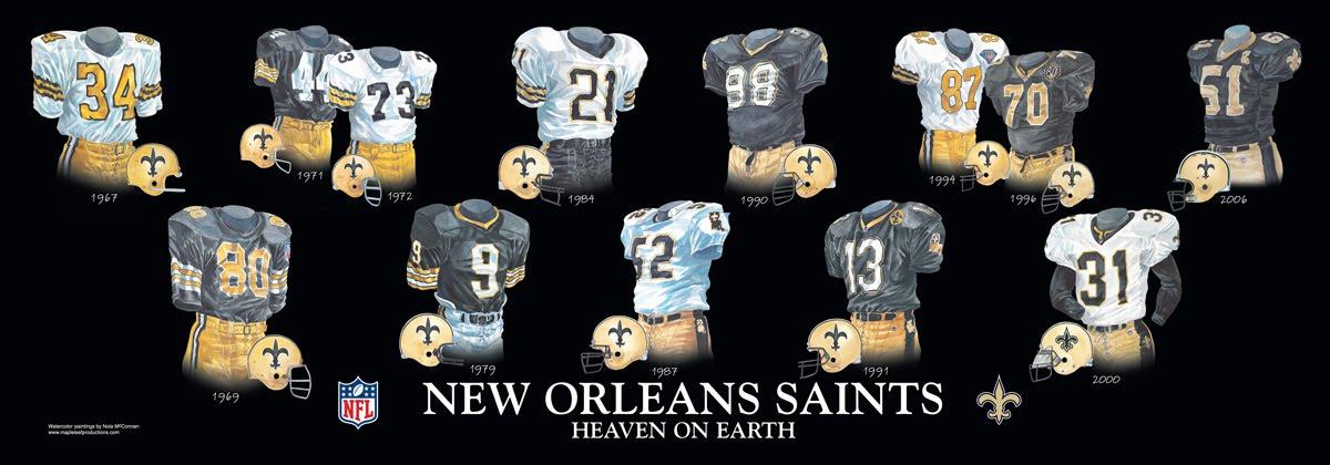 New Orleans Saints Uniform and Team History  de3b08494
