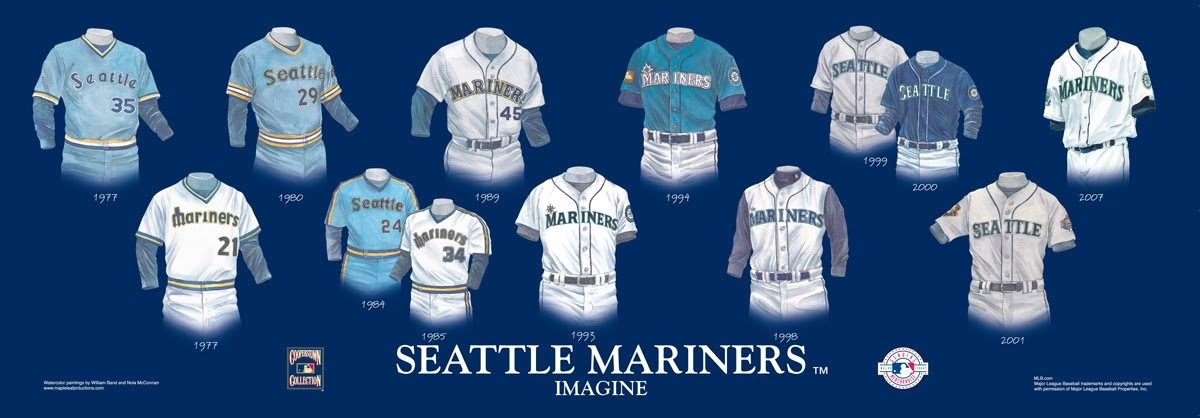 Seattle Mariners Uniform And Team History Heritage