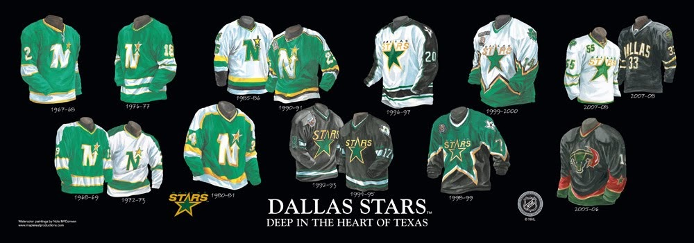 Dallas Stars Franchise Team Arena And Uniform History