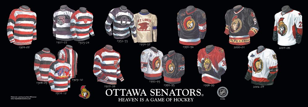 Ottawa senators franchise team arena and uniform history