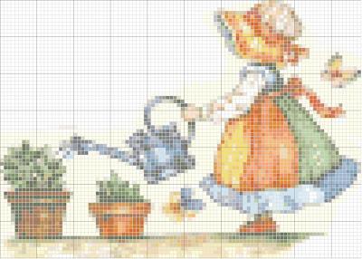 Maio1 Ponto de Cruz com Meninas e Meninos para crianças
