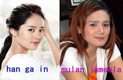 mulan+jameela+ +han+ga+in Wow!!! Artis Indonesia Yang Mirip Artis Korea
