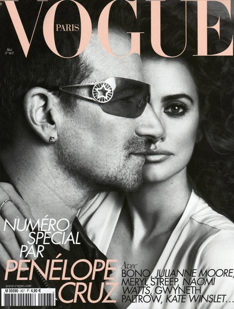 penelope cruz face shape. Bono and Penelope Cruz share