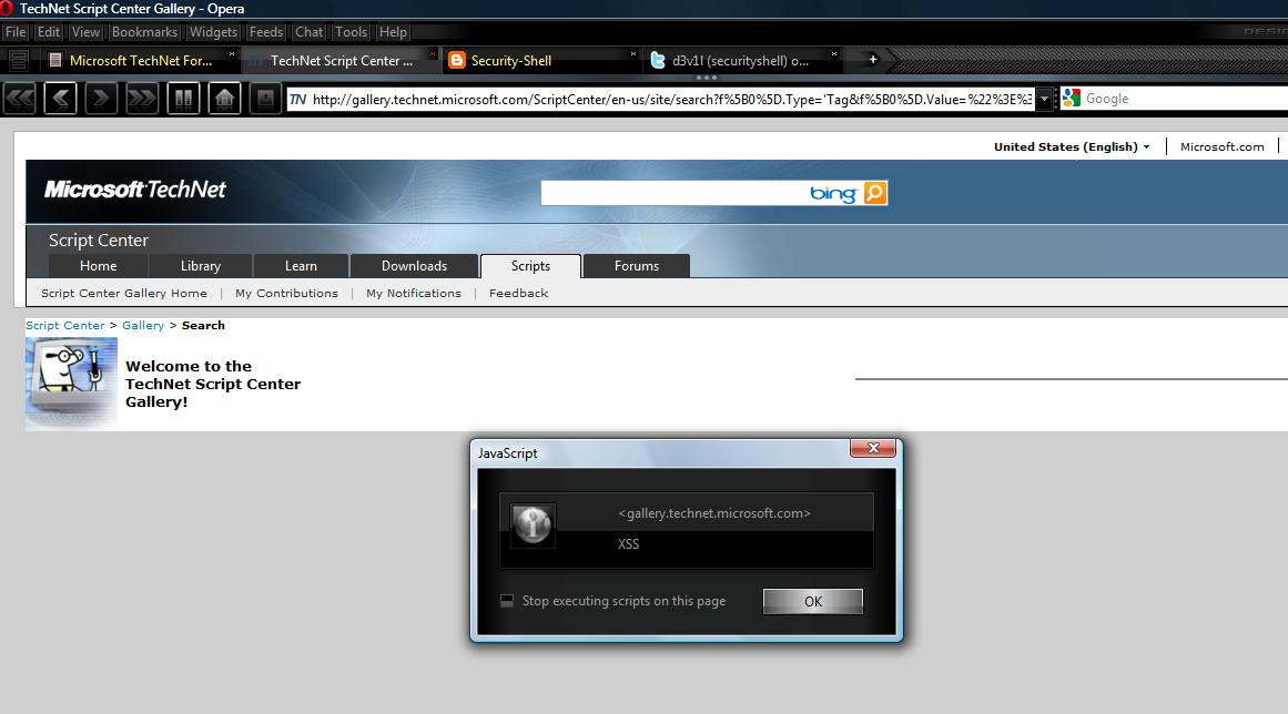 xss and html injection bugs on httpgallerytechnet