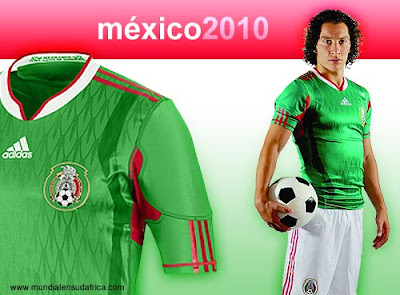 Camiseta Playera Mexico Mundial 2010