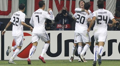 hasil pertandingan Milan vs Madrid