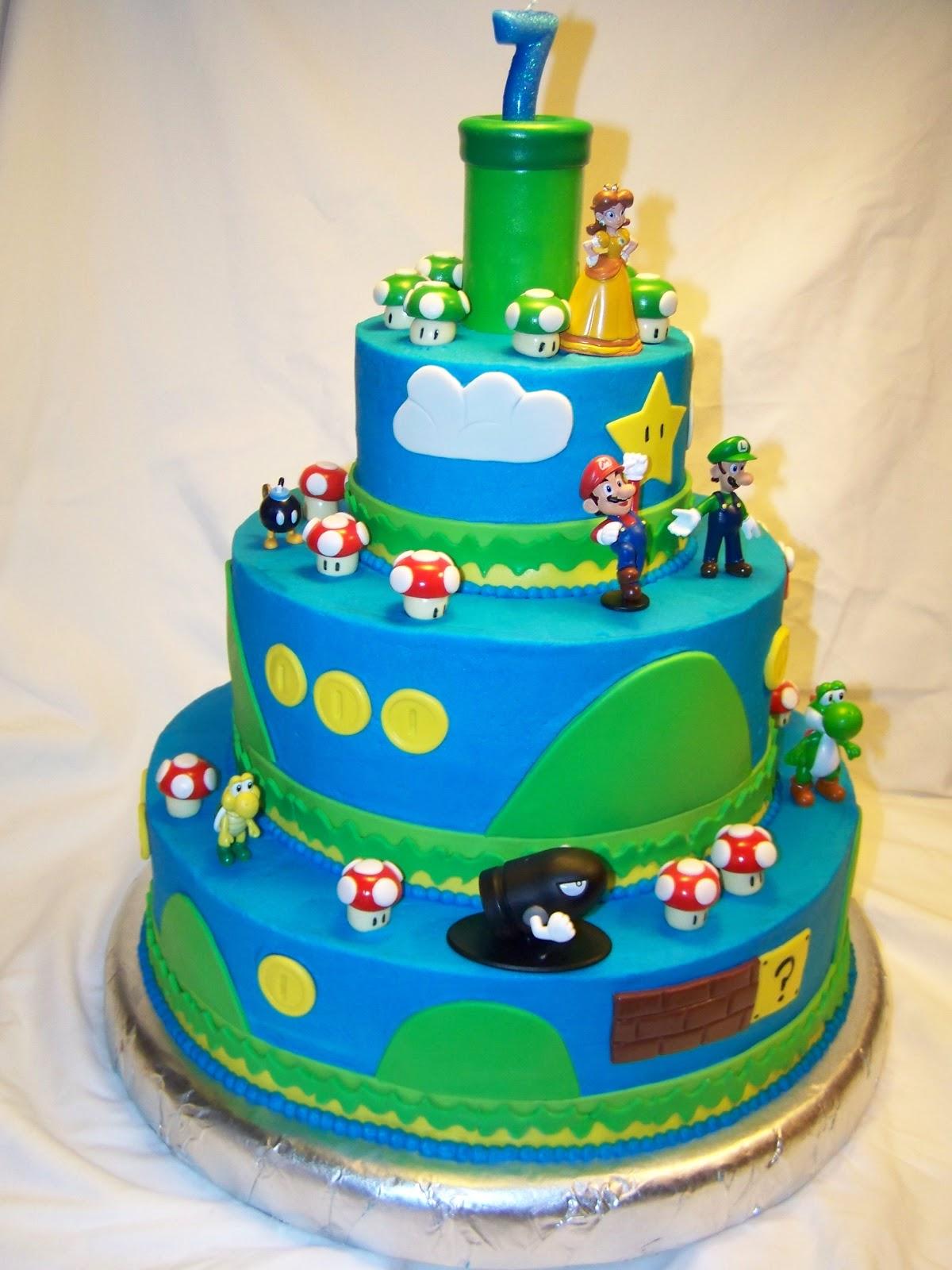 Super Mario Birthday Cake Uk
