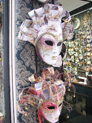 A beautiful mask shop near St. Mark's Square,Venice, Italy
