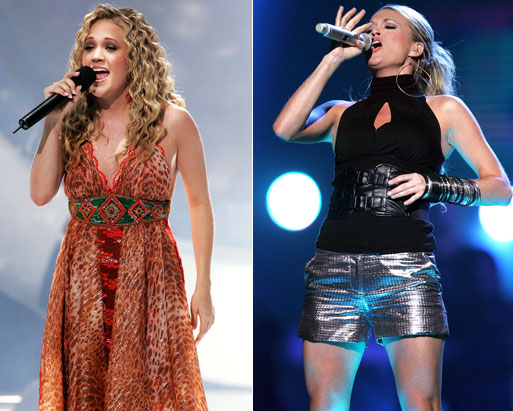carrie underwood before after. Carrie UnderweightUnderwood