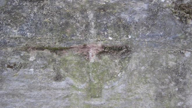 Creu circumscrita en un antic sarcòfag