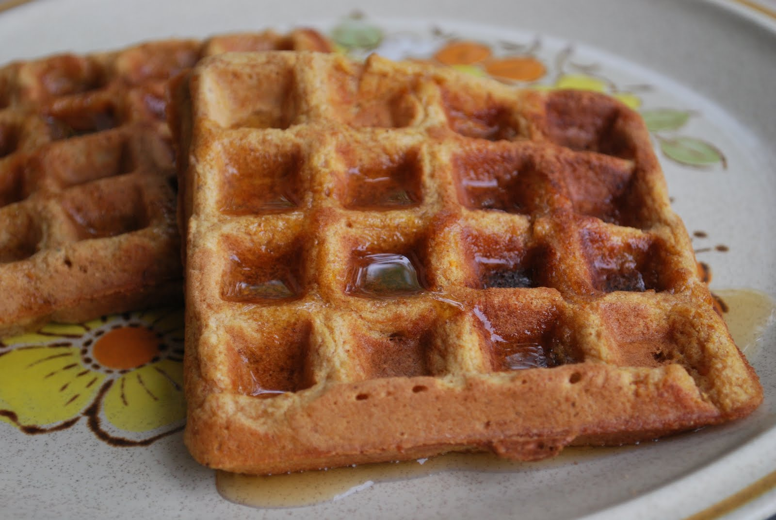 sweet potato waffles from vegan comfort food by alicia simpson
