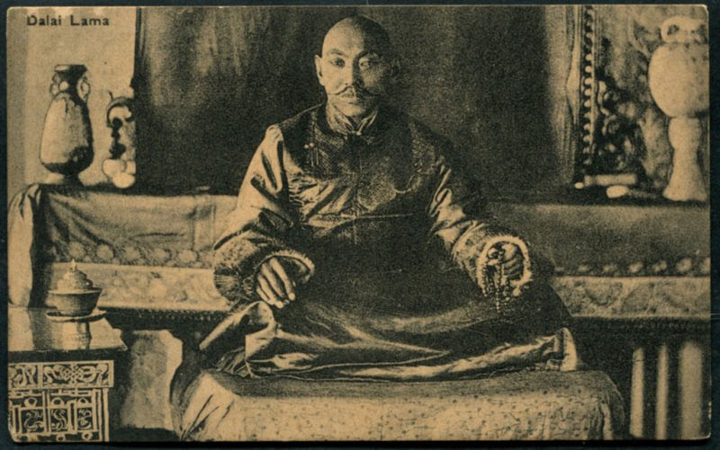 TIBET ARCHIVE . GREAT 13 TH DALAI LAMA THUBTEN GYATSO and GREAT 14 TH DALAI LAMA TENZIN GYATSO