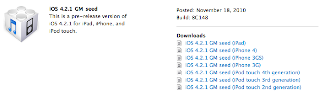 Apple Releases iOS 4.2.1 for Developers