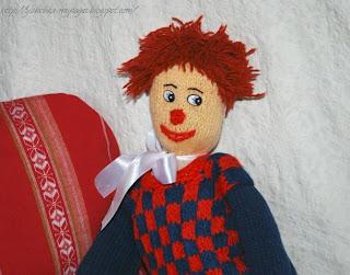 Любимая вязаная игрушка - клоун своими руками