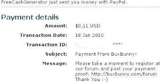 BuxBunny Payment Proof